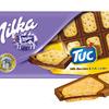 """Шоколад молочный Milka с соленым крекером """"TUC"""" 87 грамм Арт: №01119"""