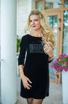 Платье черное 7712