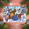 """Мозаика гелевыми стразами """"С Новым годом!"""" Маша и Медведь"""