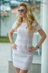 Платье пудра 7668