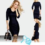 Трикотажное платье полоска 42-48
