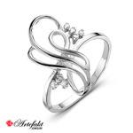 Серебряное кольцо 925 пробы с бесцветными фианитами - 518