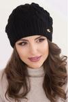 Женская шапка «Ирен» Без Помпона, Флис, Под закрепку, Черный