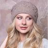 Женская шапка «Крис» Без Помпона, Флис, Под закрепку, Темный Беж