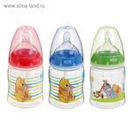 Бутылочка для кормления First Choice Plus Disney, размер М, 150 мл, от 0 мес., цвета МИКС