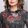 Платье Джина (роза, с поясом)