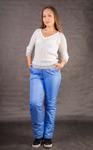 Утепленные женские брюки на поясе с завышенной талией. Арт.005,  до 70 размер