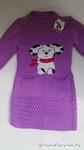 платье туника с собачкой рост 104-110