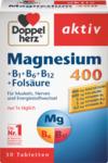 "Doppelherz aktiv Magnesium 400 +B1 +B6 +B12 +Folsaure АКТИВ МАГНИЙ+ВИТАМИНЫ ГРУППЫ ""B"" 400mg Таблетки, 30 шт"