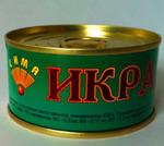 Красная икра горбуши отборная 140 гр. ж/б.