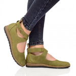 Женские кожаные туфли на ремешках