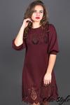 Платье Айсель (бордовый)