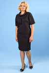 615-1113 костюм блузон+юбка карандаш