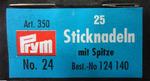 124140 PRYM Иглы ручные д/вышивки с острием №24 в конверте уп.25 шт