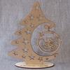 Ёлочка на подставке из дерева для декупажа и росписи