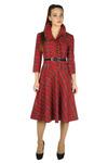 Платье-ретро клетка красное
