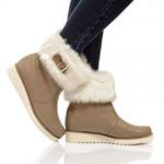Женские кожаные ботинки с декором (байка/экомех - на выбор)