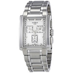 Tissot Men's Classic TXL Chronograph Stainless Steel Silver Dial