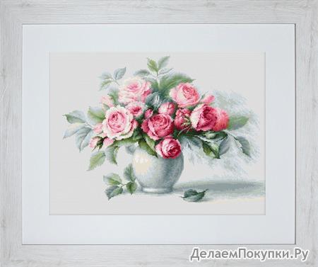 B2280 Этюд с чайными розами (Luca-S)