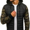 Куртка мужская переходная спортивная камуфляж-черный Denley 8362