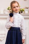 Школьная блузка для девочки с длинным рукавом (рост 146 см)
