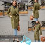 Асимметричное пальто oversize