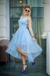 Платье голубое 7691