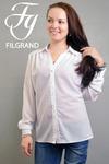 Блуза 104 креп белый