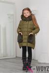 Детская зимняя куртка DT-8249-12, (Оливковый) - TM X-woyz