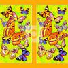 Вафельное полотно Бабочки ширина 150см
