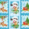 Вафельное полотно Рождественские истории ширина 150см
