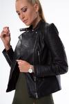 Черная Куртка В Стиле На Мотоцикле 011