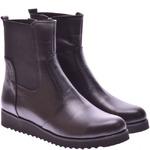 Женские кожаные ботинки на танкетке (байка/экомех/цигейка - на выбор)