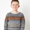 Вязаный свитер для мальчика. Орнамент