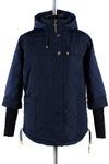 04-1227 Куртка демисезонная (синтепон 150) Плащевка Темно-синий