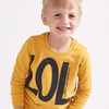 Свитшот для мальчика с принтом, цвет охра