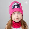 """Снуд к взрослой демисезонной двухслойной шапке с аппликацией """"Happy"""" (цвет в ассортименте)"""
