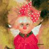 """РН GX21661 """"Домовенок в розовом платье с бантиком"""", 40х50 см"""