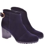 Женские замшевые ботинки укороченные (байка/экомех/цигейка - на выбор)