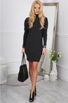 Темно-Серый Платье С Воротником 9470