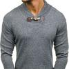 Свитер мужской серый Denley H1718