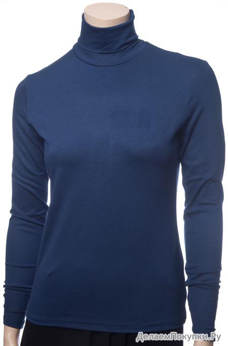 300096 Водолазка женская (синий)