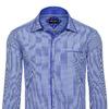 Мужская рубашка элегантный с длинным рукавом синий Denley 60C