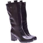 Женские кожаные сапоги на каблуке (байка/экомех-евро/цигейка-евро - на выбор)