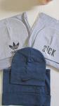 комплект снуд+шапка, двойные, подростковые