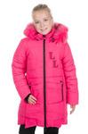 Детское зимнее пальто для девочки на флисе