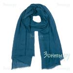 *Тонкий зелено-синий палантин Rossini PC3668-28