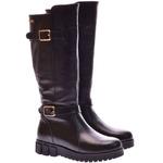 Женские кожаные сапоги на танкетке (байка/экомех/цигейка - на выбор)