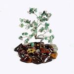Дерево счастья с нефритом и розовым кварцем макси 120*120*115мм, 360гр. Артикул:1622597вп
