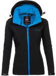 Куртка переходная женская черная Denley B056